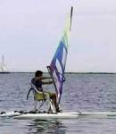 Seated windsurfing