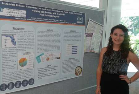 Danielle Scheer with her Poster for 2015 Diversity Day