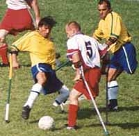 Image of extreme soccer among amputees